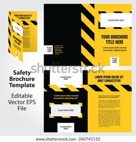 vector safety theme brochure template design stock vector 260741510 shutterstock. Black Bedroom Furniture Sets. Home Design Ideas