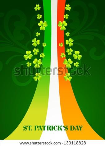 vector saint patrick's day design illustration with ireland flag - stock vector