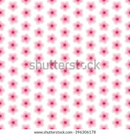 Vector sakura flower seamless pattern element. Texture for backgrounds. Romantic background sakura flower. Seamless pattern with pink flower. Vector illustration. Spring background.  - stock vector