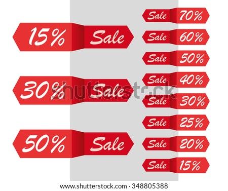 Vector Sale Labels Tags Stickers Set