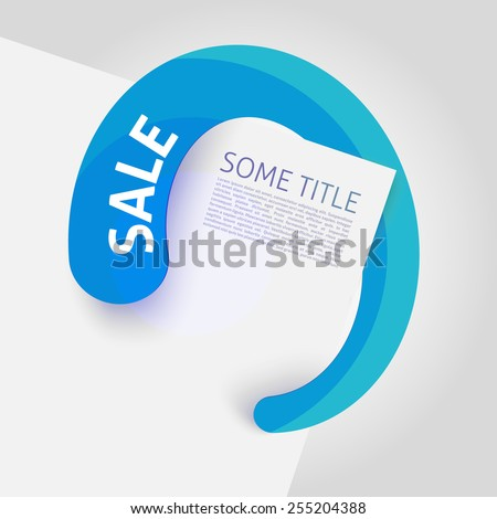 Vector sale pointer - top - modern style  - stock vector
