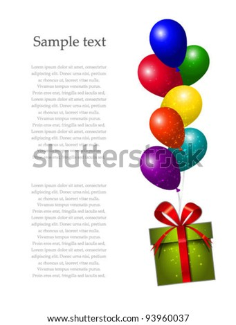 Vector sale pointer with bunch of color air balloons