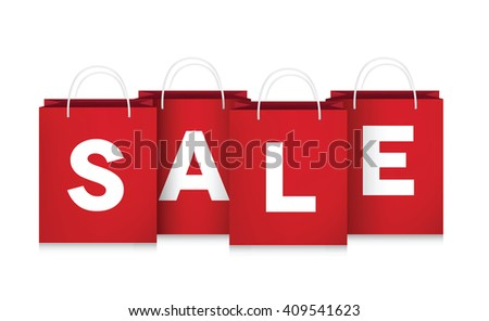 Vector sale shopping bags.
