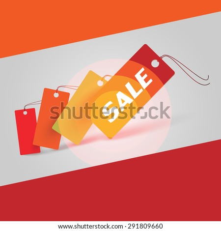 Vector sale stickers - sale - color theme - stock vector