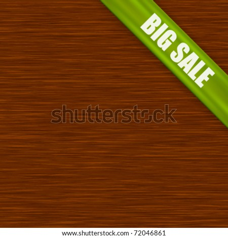 Vector sale tag with wood texture - stock vector