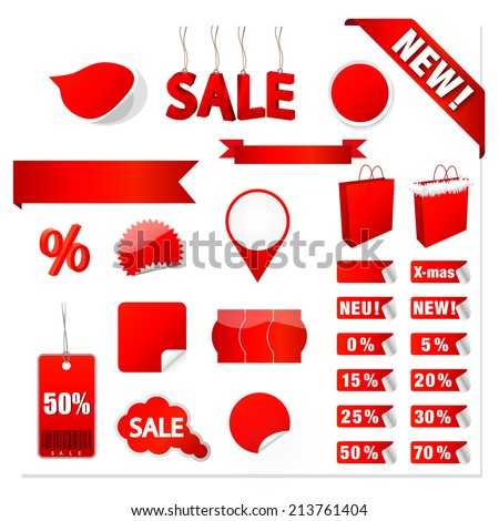 Vector Sale Tags - stock vector