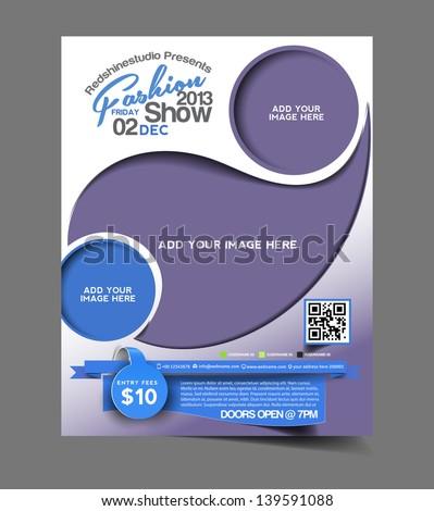 Vector salon brochure, flyer, magazine cover & poster template - stock vector