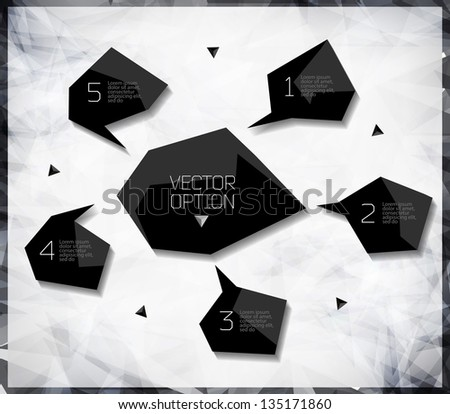 Vector Sample background for options. Design modern template can be used for brochure, banners or website layout vector.