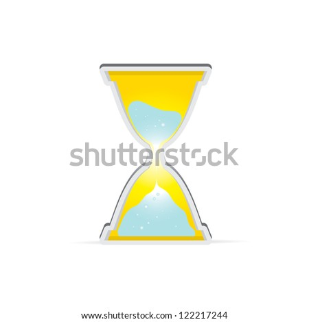 vector sand clock icon. vector loading icon. button with clock. symbol of time.