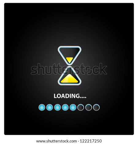 vector sand clock icon. vector loading icon. button with clock. symbol of time. - stock vector