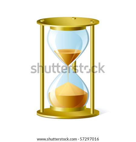 Vector sand glass. - stock vector