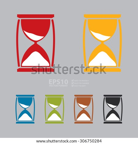 Vector : Sandglass Infographics Flat Icon, Sign - stock vector
