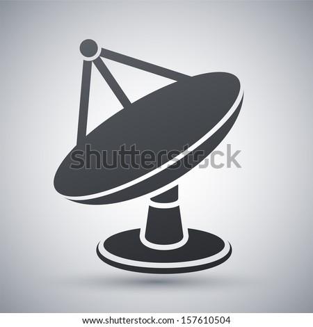 Vector satellite dish icon - stock vector