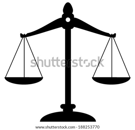 vector scale of justice - stock vector