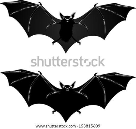 vector scary halloween bats - Halloween Pictures Bats