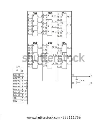 vector schematic diagram project electronic circuit stock vector hd rh shutterstock com