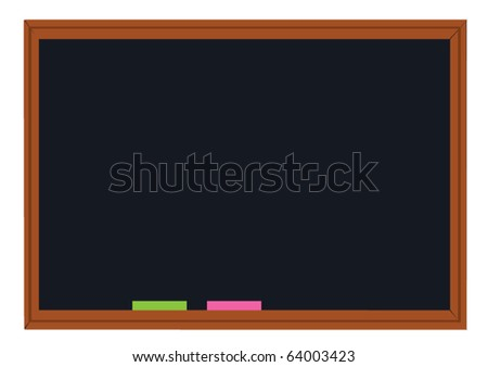 vector school blackboard