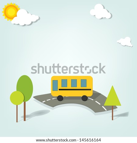 vector school bus - stock vector