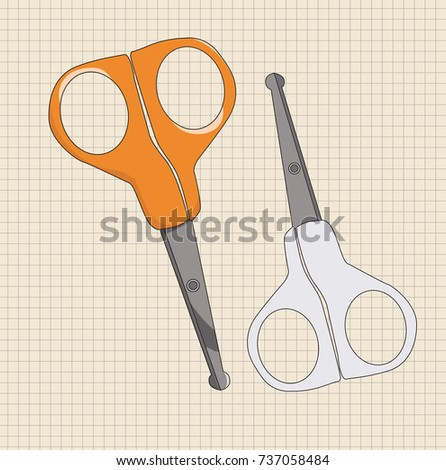 vector scissors for nails