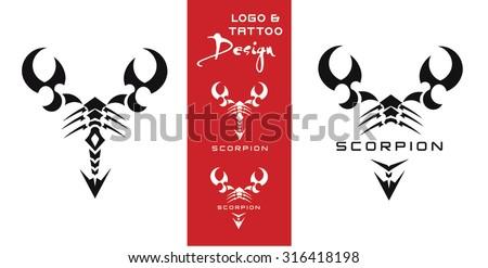 VECTOR SCORPION TATTOO/LOGO - stock vector
