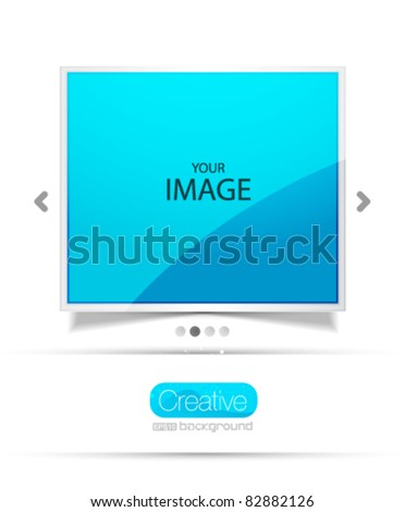 Vector screen. Promotional web template - stock vector