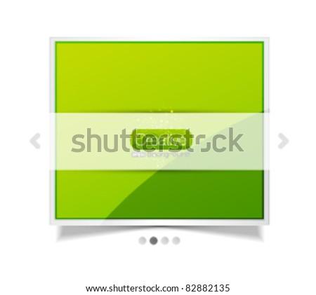 Vector screen. Promotional web template - stock vector