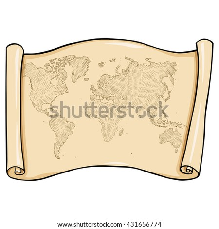 Vector Scroll with World Map