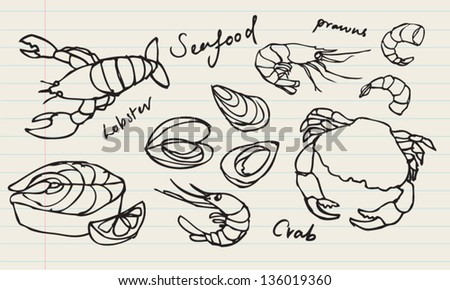seafood coloring pages - photo#22