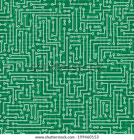 vector seamless abstract electronic background. Electronic board pattern