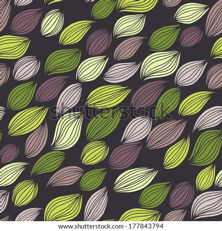 Vector seamless abstract hand drawn pattern