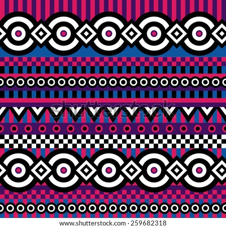 vector seamless abstract pattern in vivid colors - stock vector