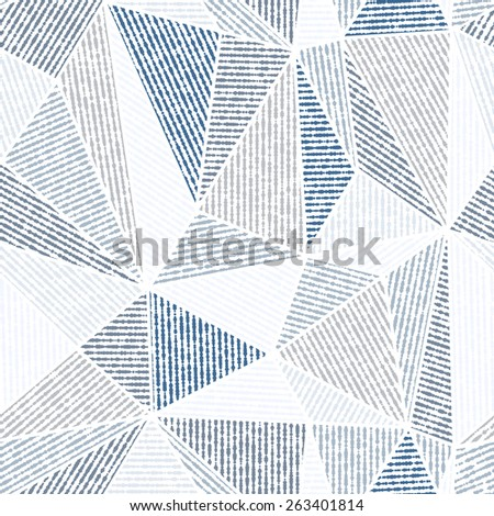 Vector seamless background. Blue and gray modern texture. Abstract pattern - stock vector