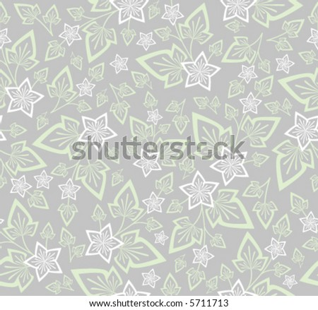 Vector seamless background floral pattern - stock vector