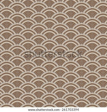Vector seamless  background from brown and beige tiles elements - stock vector