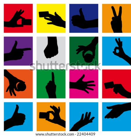 Vector seamless  Background Hand gestures. (Raster version 26838217) - stock vector