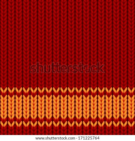 vector seamless background in style of a knitted cloth - stock vector