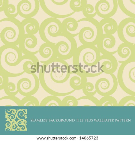Vector seamless background tile plus wallpaper pattern (Abstract Pattern 2a) - stock vector