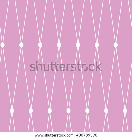 Vector seamless background. White grid on the pink background - stock vector