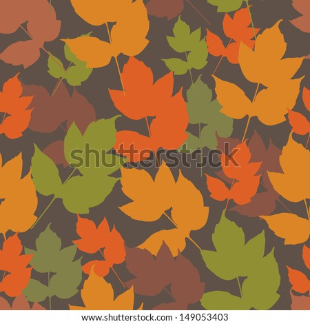 Vector seamless background with autunm leafs