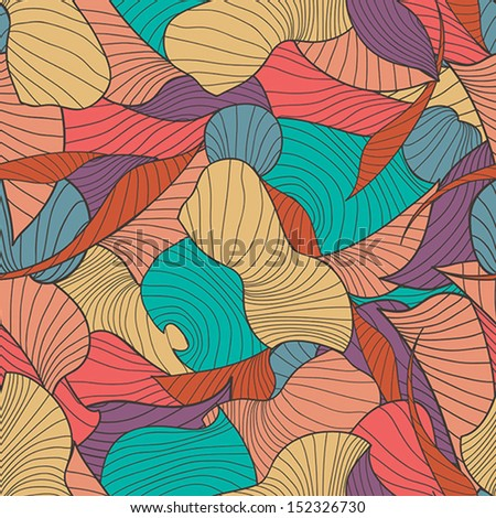 Vector seamless background with colorful abstract graphic_eps.10