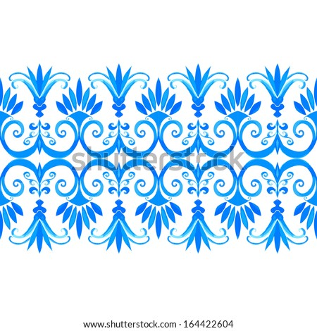 vector seamless background with watercolor greek design pattern - stock vector