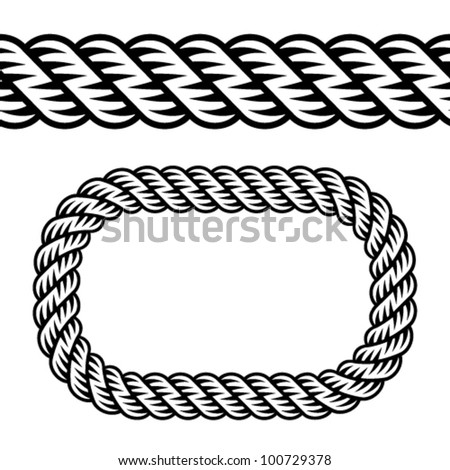 Rope Logo Vector Vector Seamless Black Rope