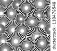 Vector seamless black white background - stock vector