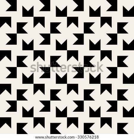 Vector Seamless Black & White Geometric Square Tiling Pattern Background