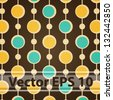 Vector Seamless Brown Retro Pattern. Eps 10 - stock vector