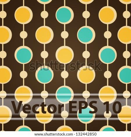Vector Seamless Brown Retro Pattern. Eps 10 - stock vector