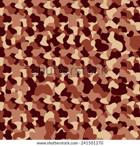 vector seamless camouflage pattern - stock vector