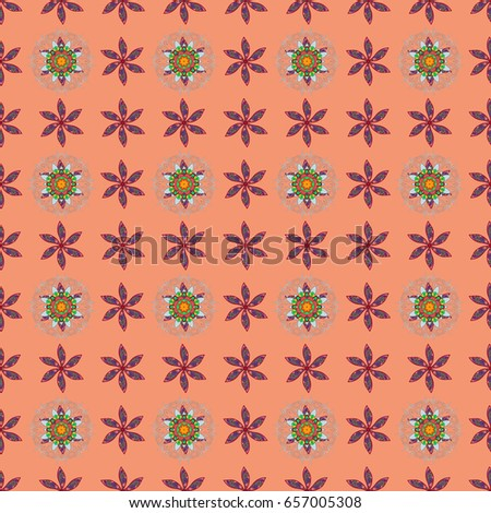 Vector seamless colorful floral pattern. Hand drawn floral texture, decorative flowers.
