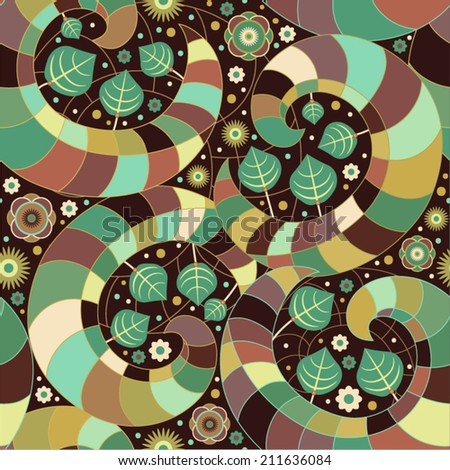 Vector seamless colorful pattern - stock vector