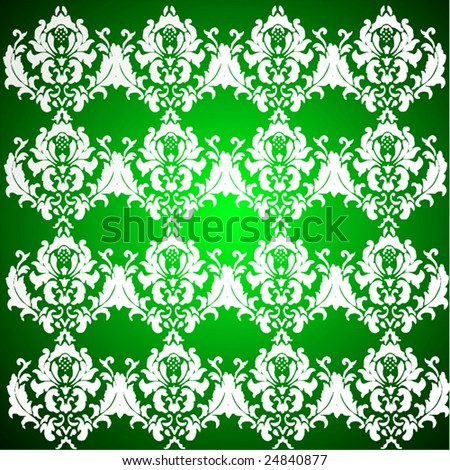 Vector Seamless Damask